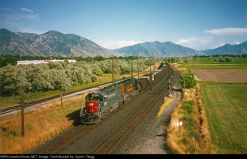 SSW GP40M-2 No.7275,D&RGW GP60 No.3156 Orem,Utah July 19,1995.