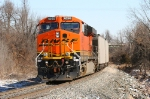 BNSF 6265 brings up the rear of a empty TXUX coal train
