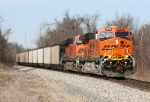 BNSF 6249 bringing another load of coal south as it rounds the bend