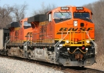 BNSF 6249 wears her swoosh bar proudly