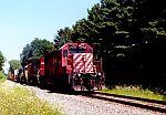 CP 5408 leads an intermodal train