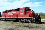 CP 5581 with flag logo