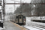 NJT Comet V on a Trenton bound local(with a burned out headlight) arrives