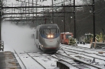 Southbound ACELA express roars down the main heading for the nation's capital