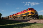 "KCS 4702 - 4058 with a train of ""Belle-Hops"" on the BNSF"