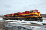 KCS 4042 - 4111, EMD SD70ACe, lay over in the BNSF Yard