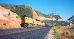 Southern Pacific's Skyline Mine-IPP Coal Train,Thistle,Utah October 1993.