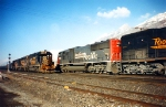 DRGW 3101,SP 9806 Meet at Ironton,January 29,1995.
