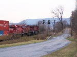 I was suprised to find a VERY late cp 165 Stopped at the PRR signal bridge in Fishing Creek.