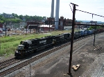 Freight train headed north through Harrisburg.