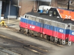 Dead lined MNCR F-10 413 sits at the south end of the old Harmon shops. The F-units ran on MNCR up to last Feb.