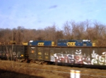 CSX 6413 and 2227