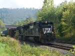 My favorite loco...headed north on the Buffalo line on a scortching July day.