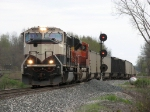 After D802 tied onto the rear, D801 pulls out of the siding and heads for Saugatuck Hill