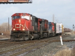 CN 5795 leads A490 southward over the diamonds