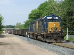D700-28 pulls east out of Waverly Yard before doubling onto the rest of its' train
