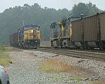 Coal train meet