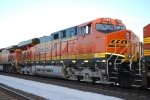 BNSF 7433 # 2 unit on a east bound grain train waits to roll into the BNSF Hauser yard