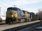 CSX 7795 & 8157 lead K357-02 west toward the yard