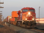 CP 8760 leads X500-16 east just after sunrise
