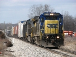 With 52 cars in tow, CSX 7628 leads Q326-19 east