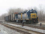 W941-20 returns from New Buffalo with 5 boxcars pulled from storage