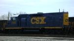 CSX 2330 locomotive works at Huntington, WV.