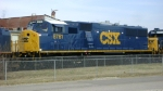 CSX 8761 at locomotive works in Huntington, WV.