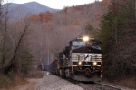 ns 750 slides down grade at dendron nc toward old fort