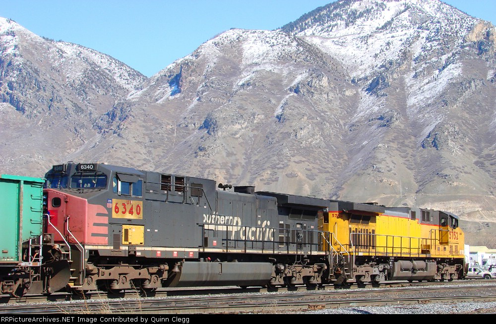 UP 6340 (Former SP 305) Provo,Utah March 8,2009
