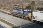 CSX 8460 switching the yard