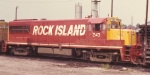 Bad photo of Rock Island U25 in 1972 at Milby Street