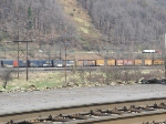GNWR 45 moves a cut of box cars around the Johnsonburg yard