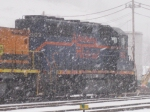 BPRR 302 sits in a heavy snowstorm