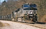 NS 9316 and Eastbound Coal Train