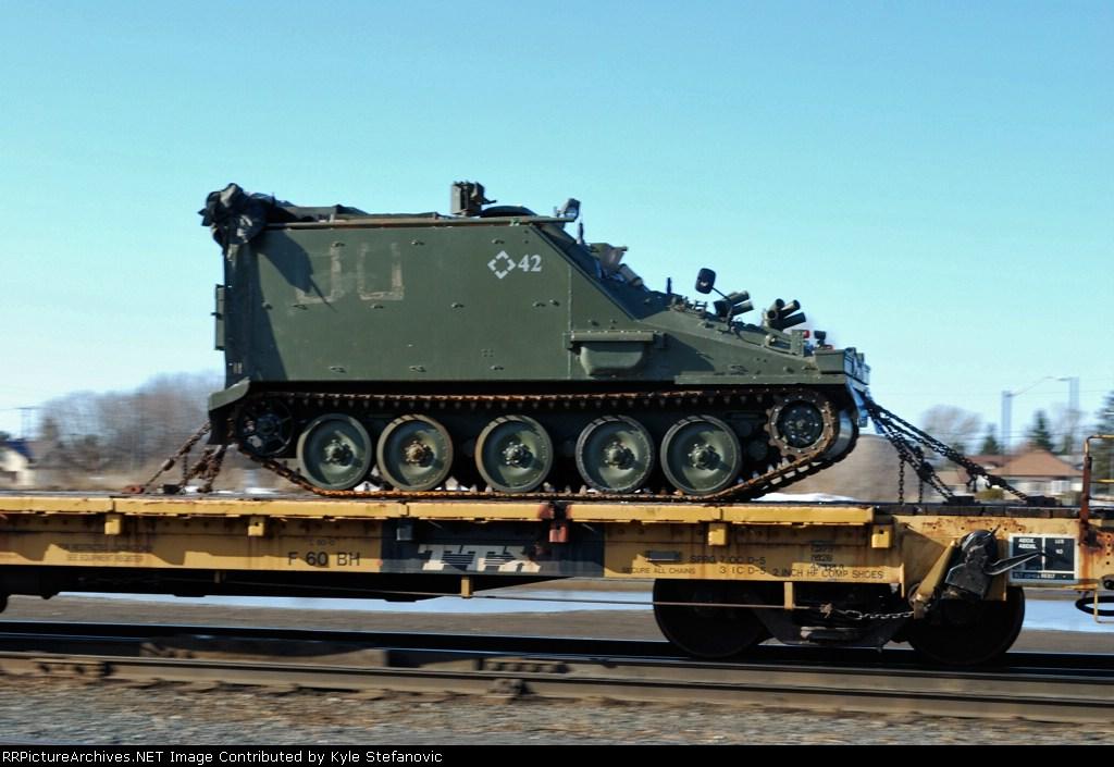 Pan shot of a tank