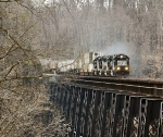 Four Iron Horses thunder across the James River Trestle