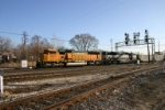 BNSF 9937 on empty MIchigan hoppers