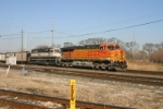 BNSF 5740 with First Energy loads for Cleveland