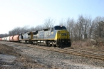 CSX 7364 climbs the hill with Q388