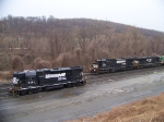 Norfolk Southern 8300, 7693, and 5121