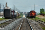 CN 4131 AND APPROACHING GO TRAIN