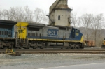 CSX 7324 with tower in background