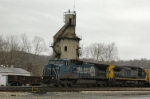 CSX 7331 with tower in background