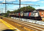 NJT 4111 With an Interesting Train for The North Jersey Coast Line