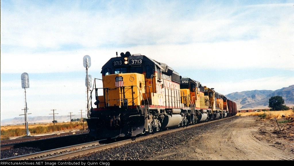 UP 3713 Lynndyl,Utah September 23,1995