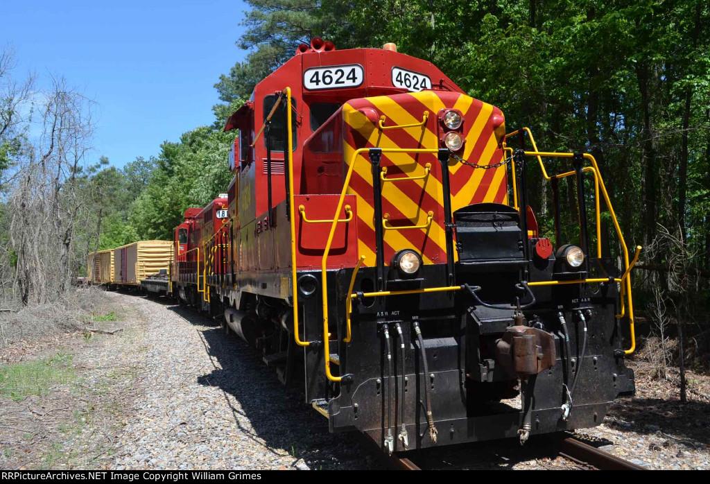 Range Train passing CP Floyd