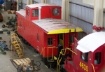 "Caboose in the ""Gray Rail Complex"""