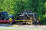 Switching cars at the railhead