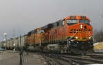 Loaded coal train rolls through